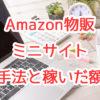 ミニサイトを350サイト量産。Amazon物販の手法と稼いだ額はいくらか