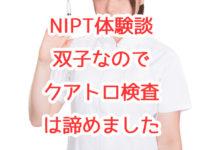 【NIPT体験談】双胎だったのでクアトロ検査を諦め、NIPTを受けました