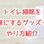 【家事簡略化】簡単トイレ掃除!便利なグッズ3選+やり方紹介